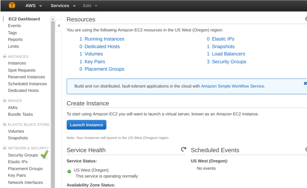 Amazon Elastic FIle System (EFS) create security Groups
