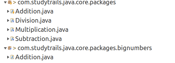 using imports in java