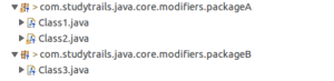 public access modifier in java