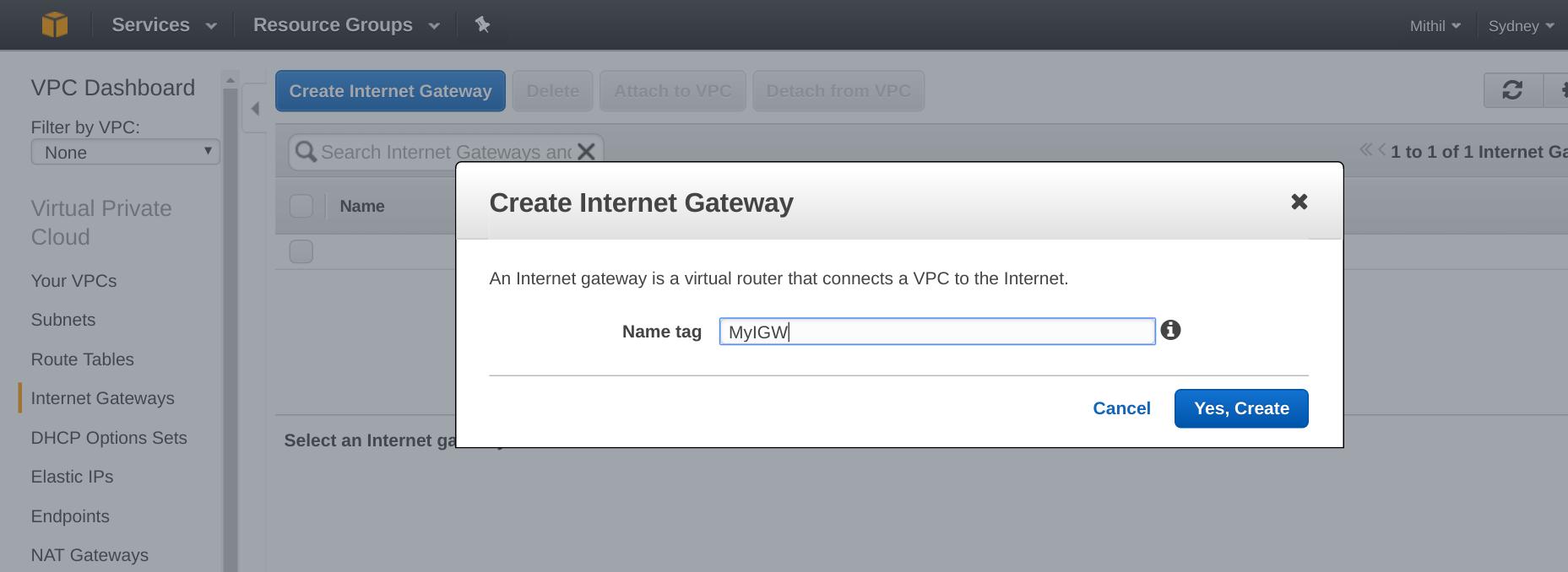 AWS Intenet Gateway