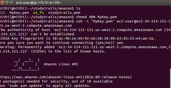 Amazon AWS Create EC2 login