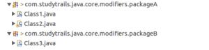 public access modifier in java