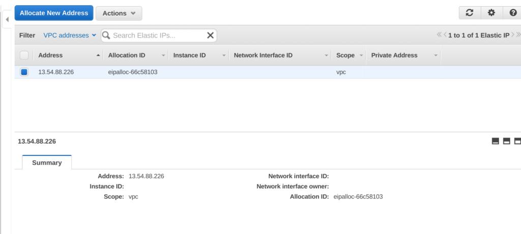 VPC Elastic IP